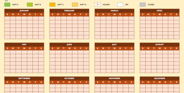 Free Work Schedule Templates For Word And Excel With Monthly Employee Schedule Template