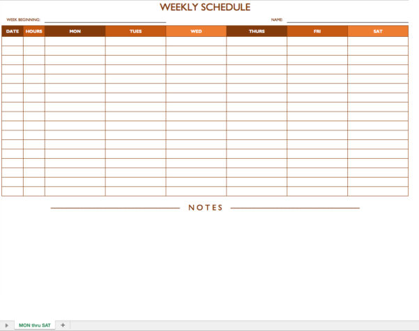Free Work Schedule Templates For Word And Excel With Printable Employee Schedule Templates