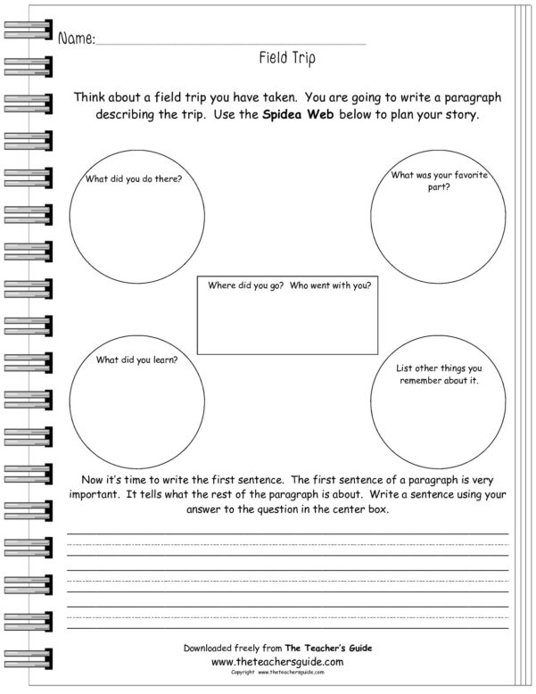 Free Writing And Language Arts From The Teacher's Guide In Worksheet Templates For Teachers