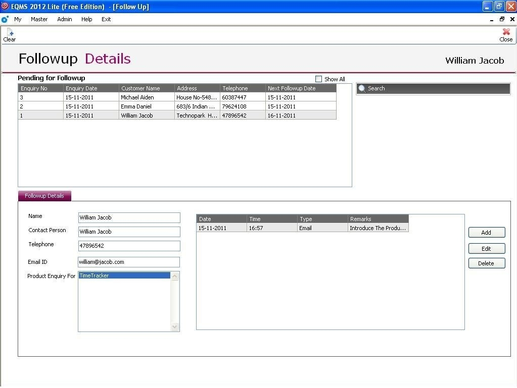 Freeware Download: Free Excel Crm Sheet Template With Free Sales Crm In Excel Crm Template Free