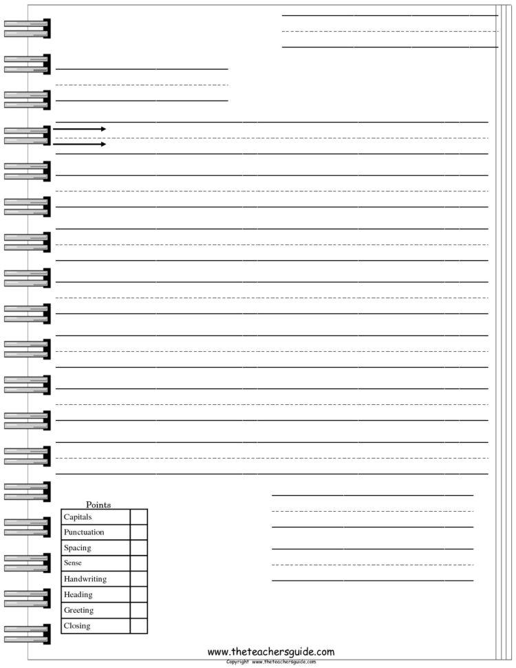 Friendly Letter Worksheets From The Teacher's Guide For Worksheet Templates For Teachers