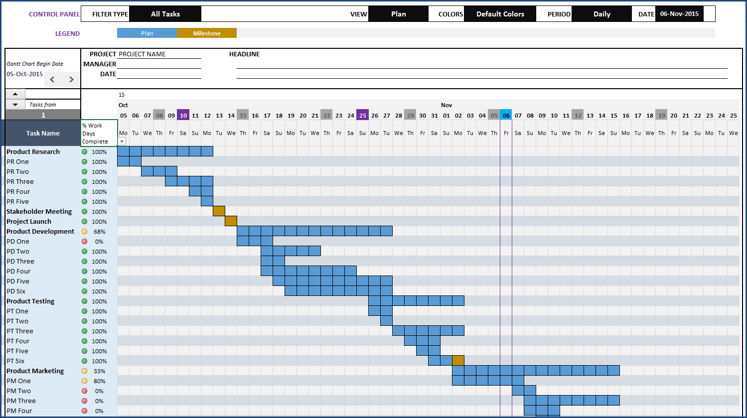 Gantt Chart Maker Excel Template For Excel Gantt Chart Template Conditional Formatting