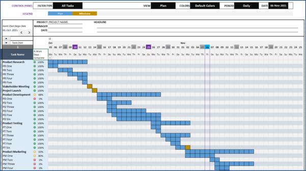 Gantt Chart Maker Excel Template With Excel Gantt Chart Template
