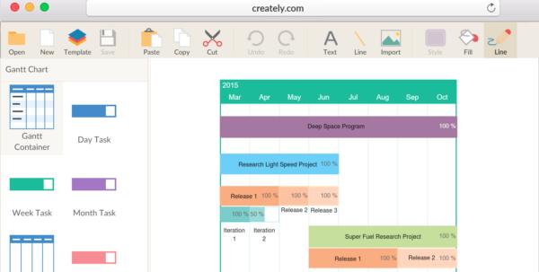 Gantt Chart Maker To Create Gantt Charts Online | Creately And Gantt Chart Template Online Free