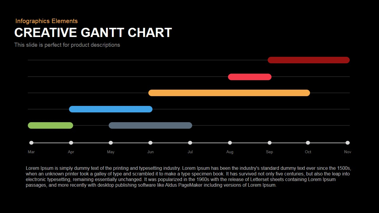 Gantt Chart Powerpoint And Keynote Template In Gantt Chart Ppt Template Free Download
