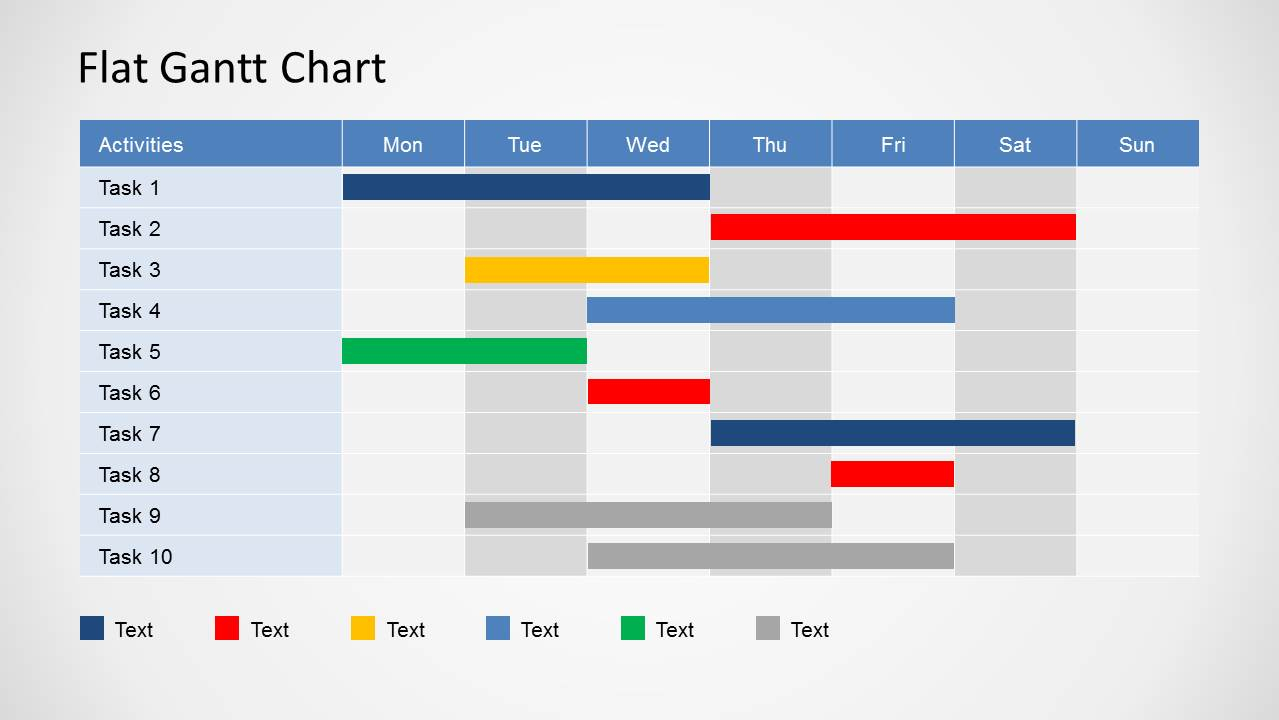 Gantt Chart Ppt Templates Throughout Gantt Chart Schedule
