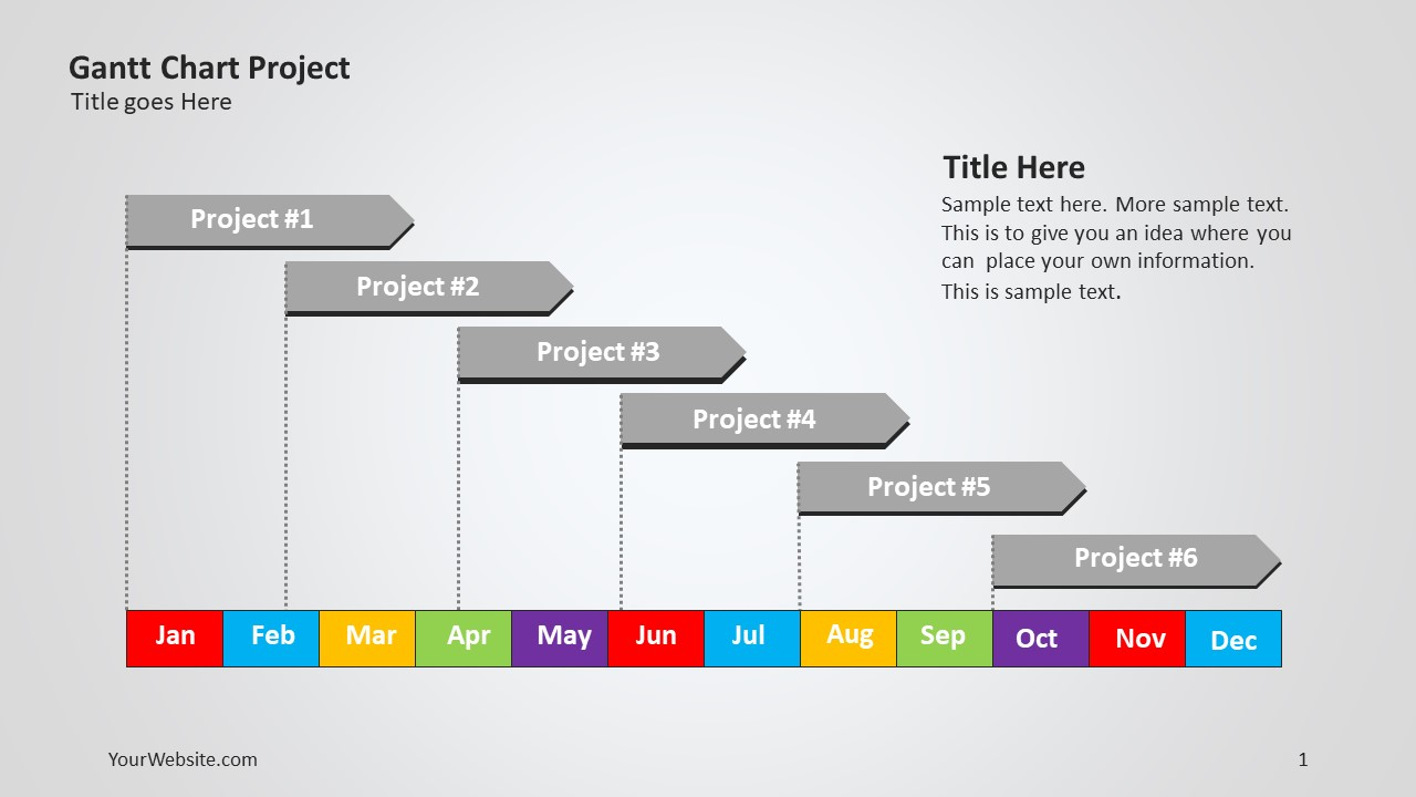 Gantt Chart Project Ppt   Slide Ocean With Gantt Chart Template For Powerpoint