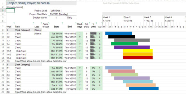 Gantt Chart Research Proposal Template Excel | Resume Examples And Gantt Chart Template For Research Proposal