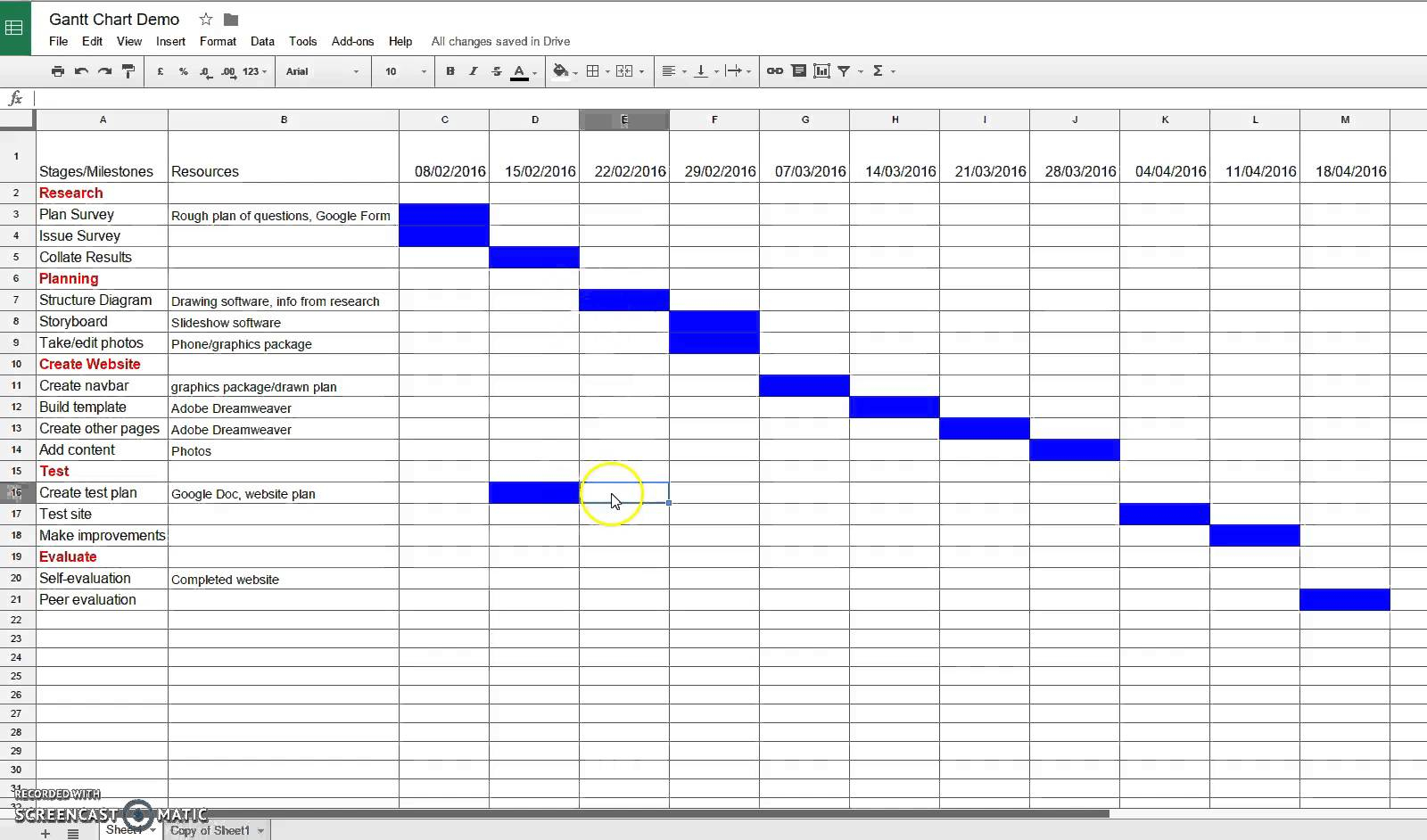 how to make a budget chart in excel