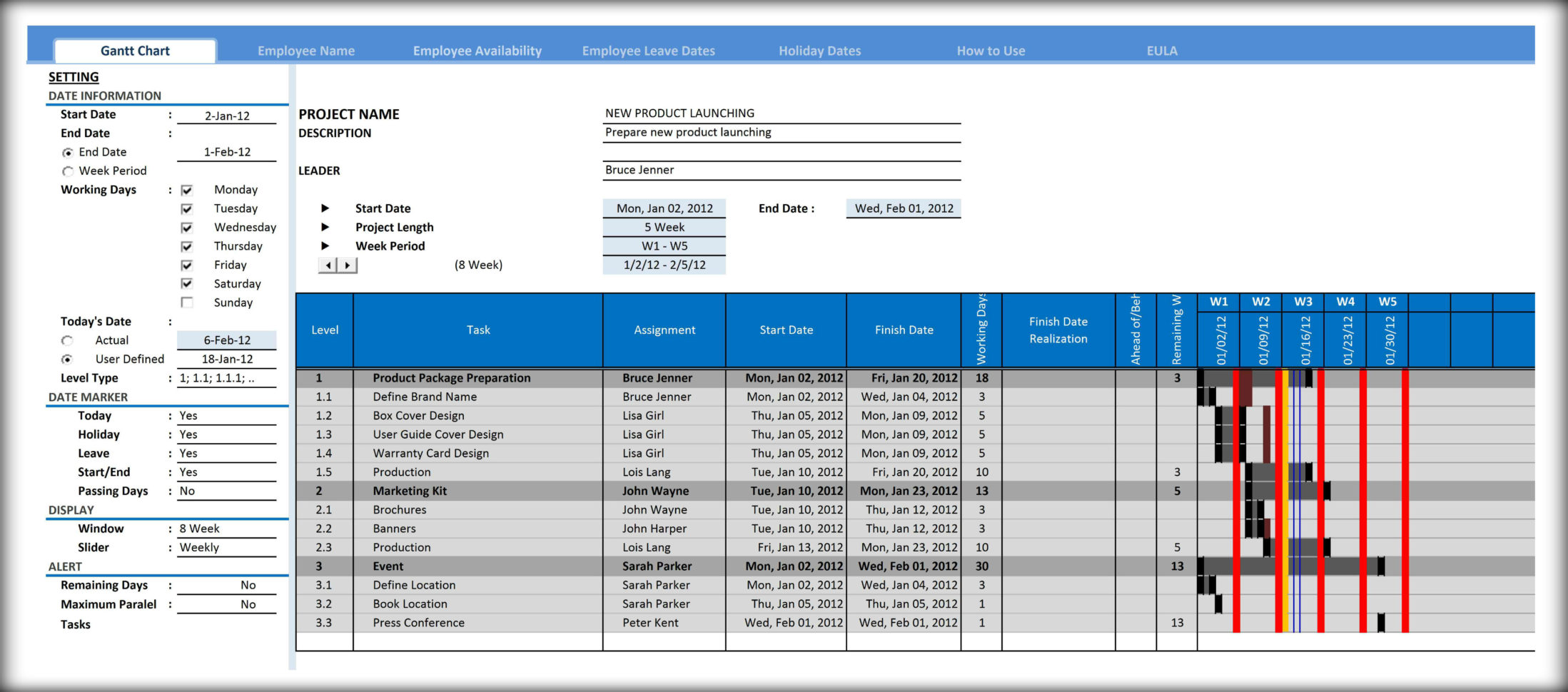 Gantt Chart Template For Excel   Excelindo To Gantt Chart Template Pro