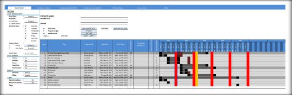 Gantt Chart Template ] | Free Gantt Chart Excel Template Calendar Intended For Gantt Chart Template Excel