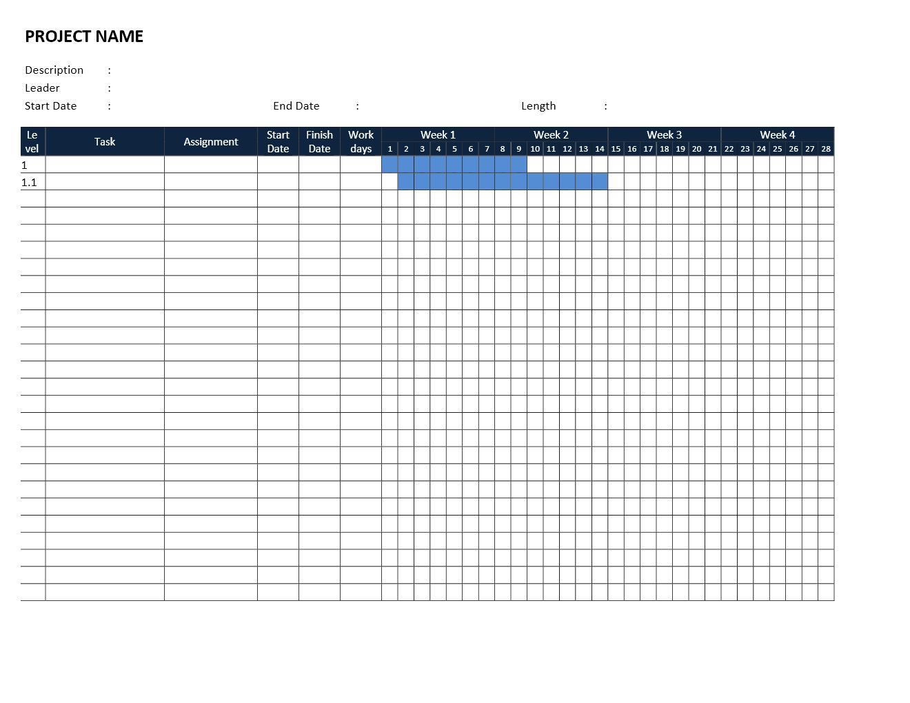 Gantt Chart Template Inside Gantt Chart Template Word Free