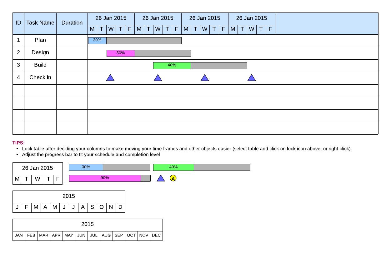 Gantt Chart Template: Simple Chart – Lucidchart To Simple Gantt Chart Template