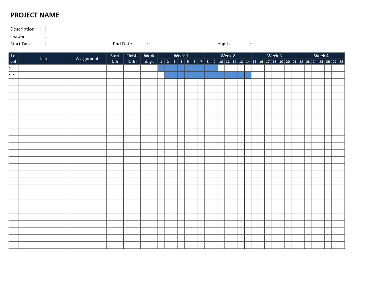 Gantt Chart Template With Gantt Chart Template Microsoft Word