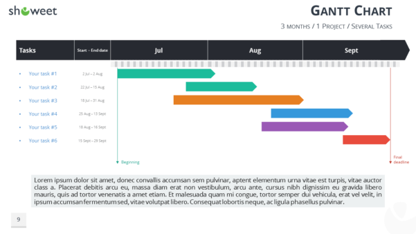 Gantt Charts And Project Timelines For Powerpoint Intended For Gantt Chart Template Ppt