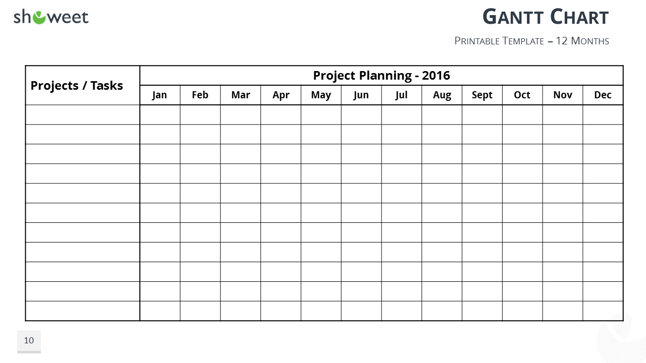 Gantt Charts And Project Timelines For Powerpoint To Ppt Gantt Chart Template Free