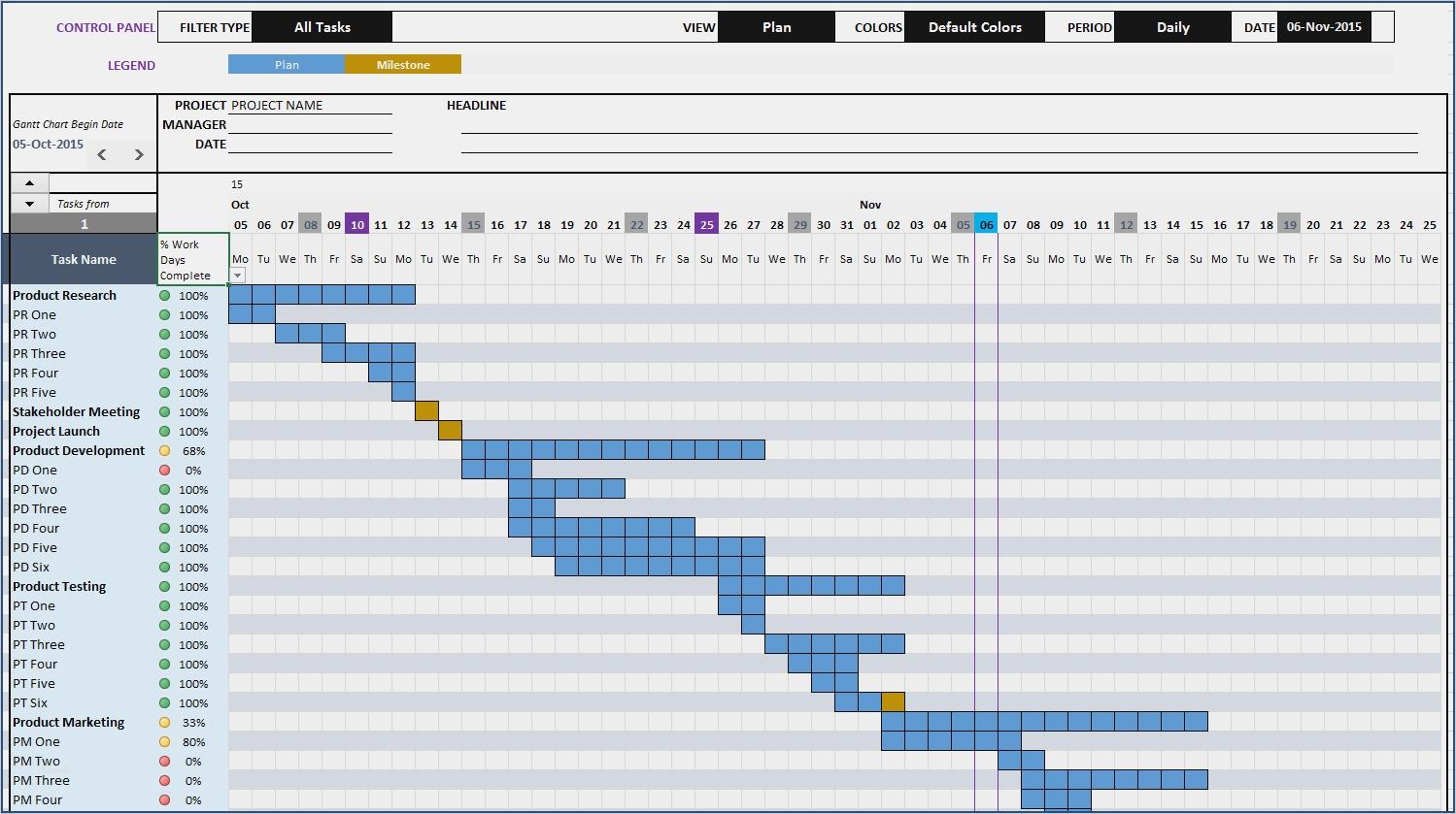 Gantt Excel Vorlage Süß Excel Calendar Gantt Chart Template throughout Simple Gantt Chart Template Excel Free