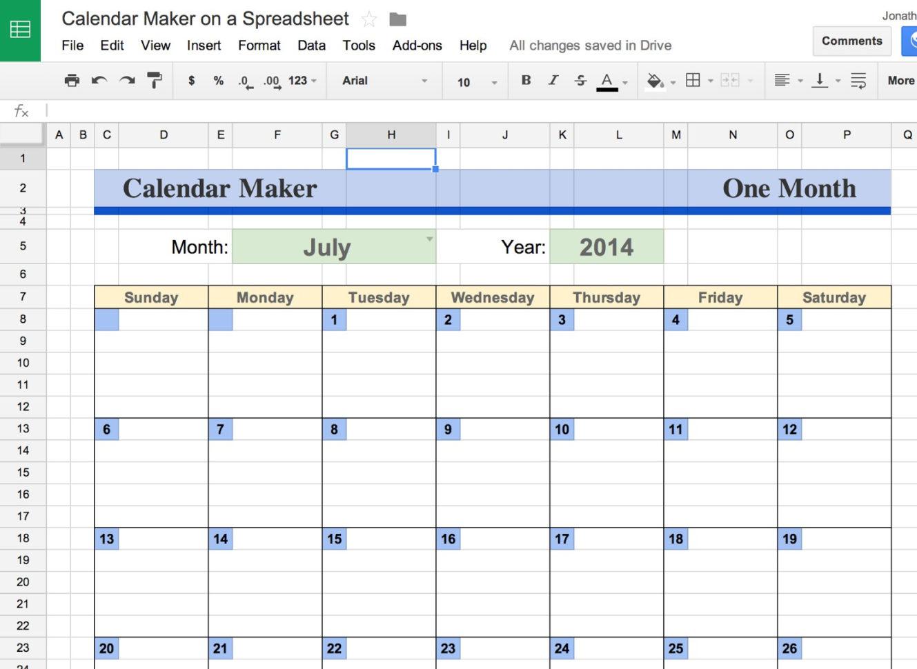 Google Docs Calendar Spreadsheet Template | Business Template Idea In Google Spreadsheet Templates