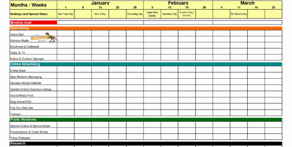 Google Docs Calendar Spreadsheet Template Luxury Excel Calendar 2018 Intended For Marketing Spreadsheet Template