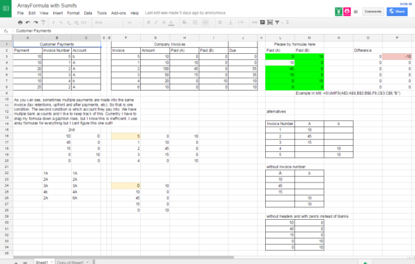 Google Sheets Arrayformula With Sumifs   Stack Overflow To Google Spreadsheet If