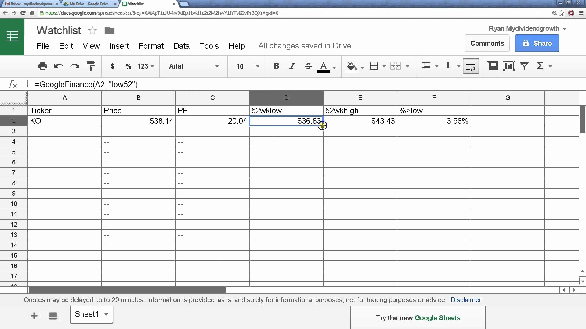 Google Sheets What If Analysis New Google Spreadsheet Stock Throughout Google Spreadsheet If