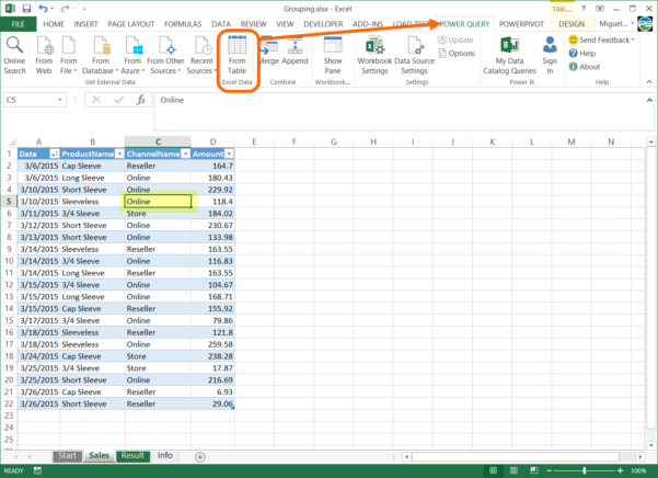 Group Or Summarize Data In Excel With Power Query To How To Create A Spreadsheet In Excel 2013