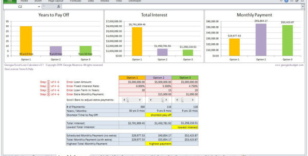 Home Loan Calculator Spreadsheet   My Mortgage Home Loan For Mortgage Spreadsheet Template