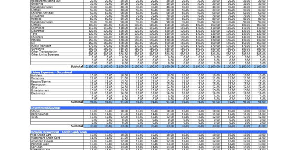Household Budget | Excel Templates And Home Financial Spreadsheet Templates