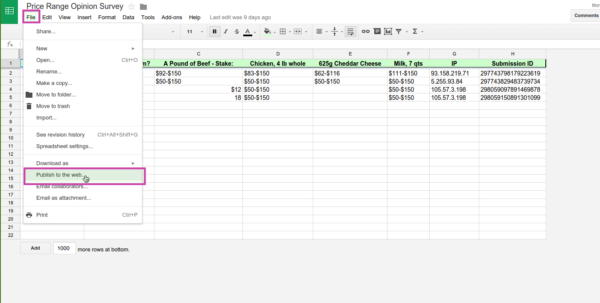 How Can I Embed A Google Spreadsheet Into My Form? | Jotform With Google Spreadsheet