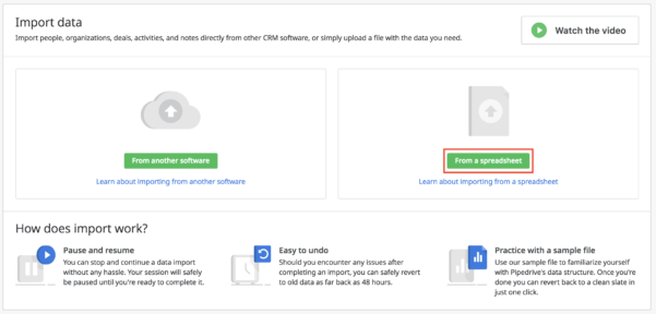 How Can I Import Data Into Pipedrive With Spreadsheets? – Support Center For Sample Spreadsheet Data
