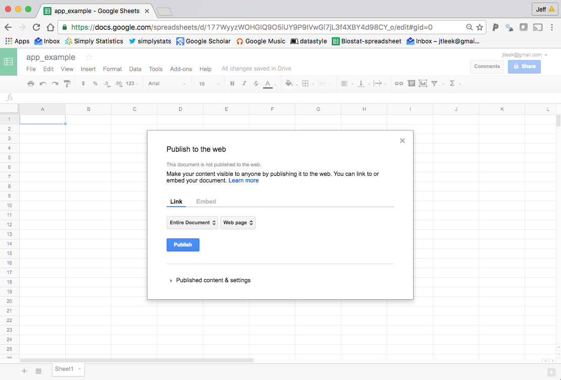 how to create google excel sheet