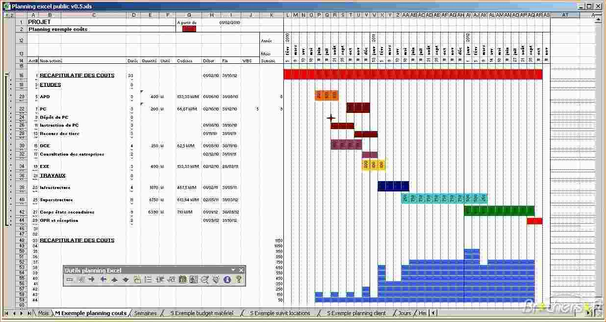 How To Create A Gantt Chart In Microsoft Excel 2010 Download Free And Gantt Chart Template Excel 2010 Free Download