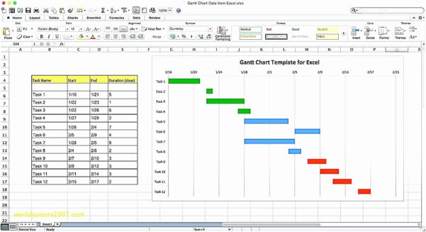 How To Create A Gantt Chart In Microsoft Excel 2010 Of Project In Gantt Chart Template Free Excel