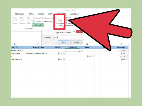 How To Create A Simple Checkbook Register With Microsoft Excel In How To Create A Spreadsheet In Excel 2013