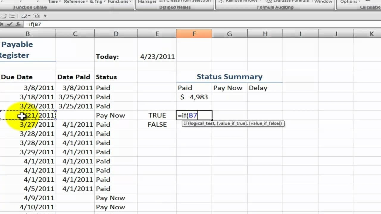 How To Create An Accounts Payable Status Summary In Excel Youtube throughout Accounts Payable Spreadsheet Template