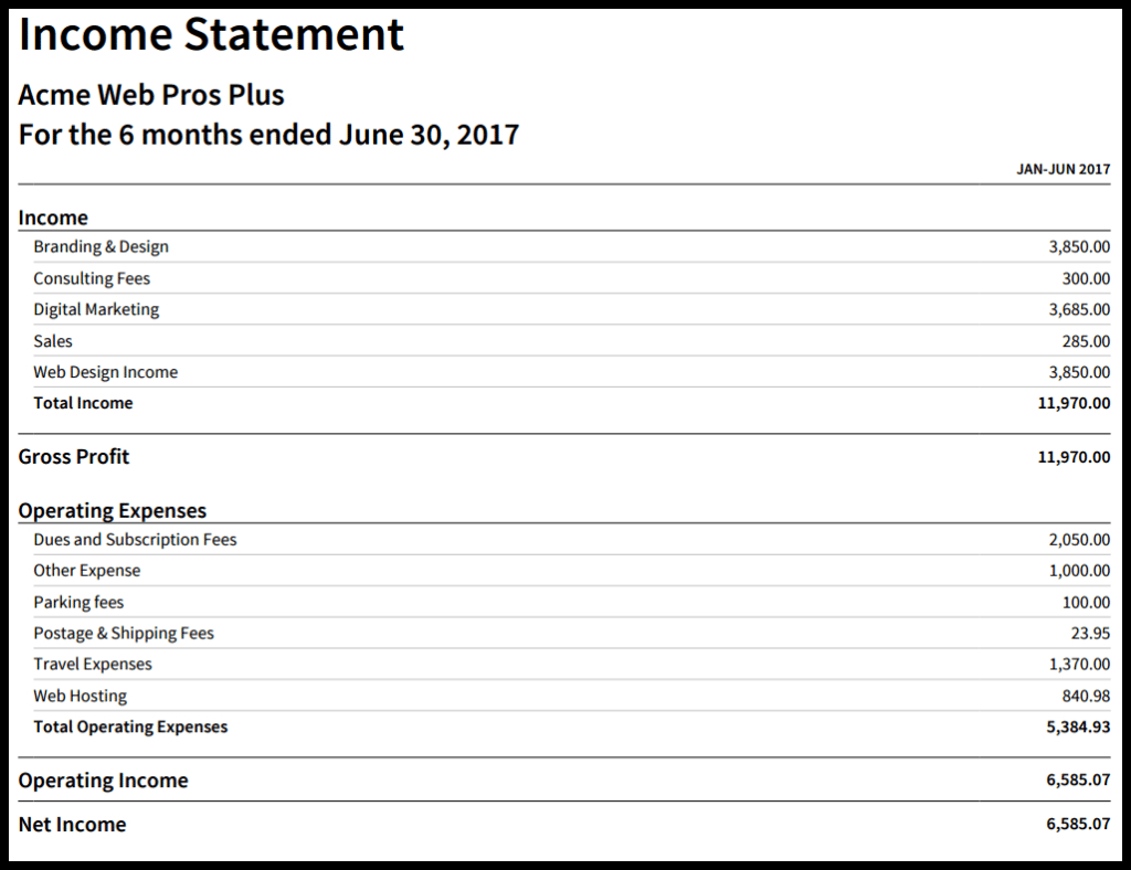 How To Create An Income Statement In Xero For Monthly Income Statement