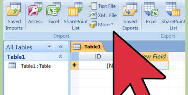 How To Import Excel Into Access: 8 Steps (With Pictures)   Wikihow And Excel Database Template Wizard