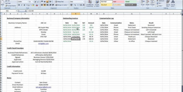 How To Maintain Accounts In Excel Accounts Receivable Excel In Excel With Excel Sheet For Accounting Free Download