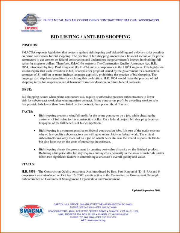 How To Make A Construction Bid Proposal   Zoro.9Terrains.co To Construction Bid Form Free