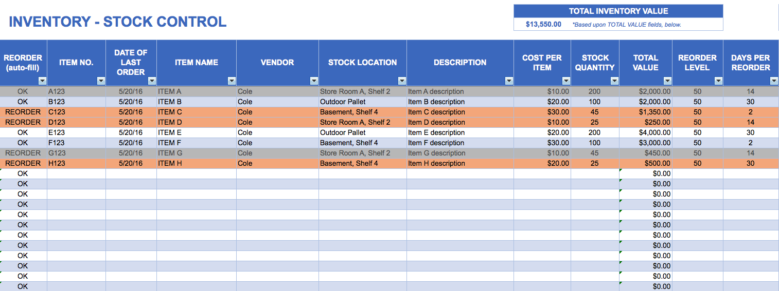 How To Make Stock Inventory In Excel Sample Excel File Inventory Inside Sample Excel File Inventory