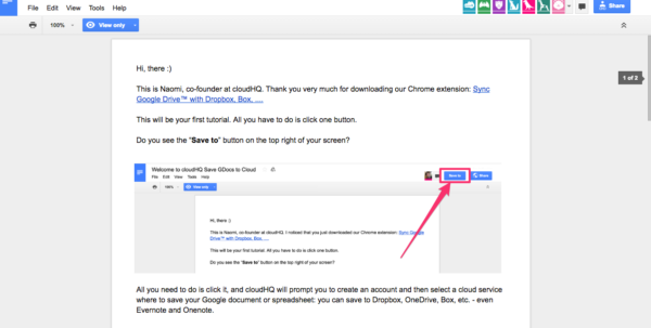 How To Save Google Docs To Dropbox Using Our Chrome Extension Within Google Docs Spreadsheet