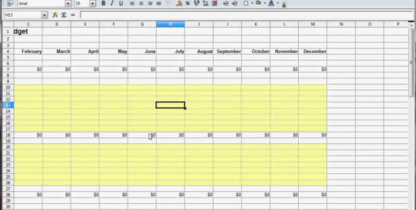 How To Set Up A Monthly Budget In Excel | Homebiz4U2Profit With How To Set Up An Excel Spreadsheet