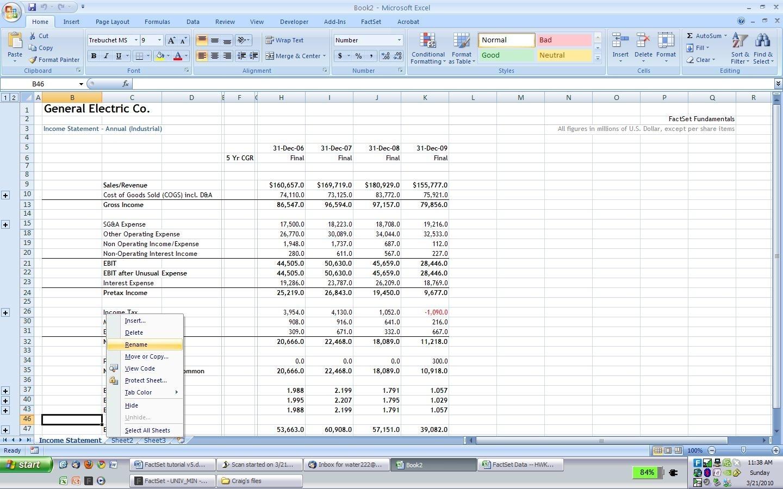 Homework help income statement worksheet