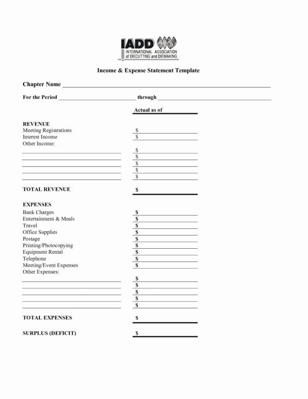 Income And Expense Statement Excel Best Of Free In E And Expense To Income And Expense Statement Template