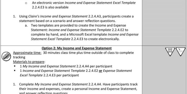 Income And Expense Statement   Pdf Within Income And Expense Statement Template