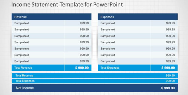Income Statement Powerpoint Template   Slidemodel Inside Financial Statements Templates