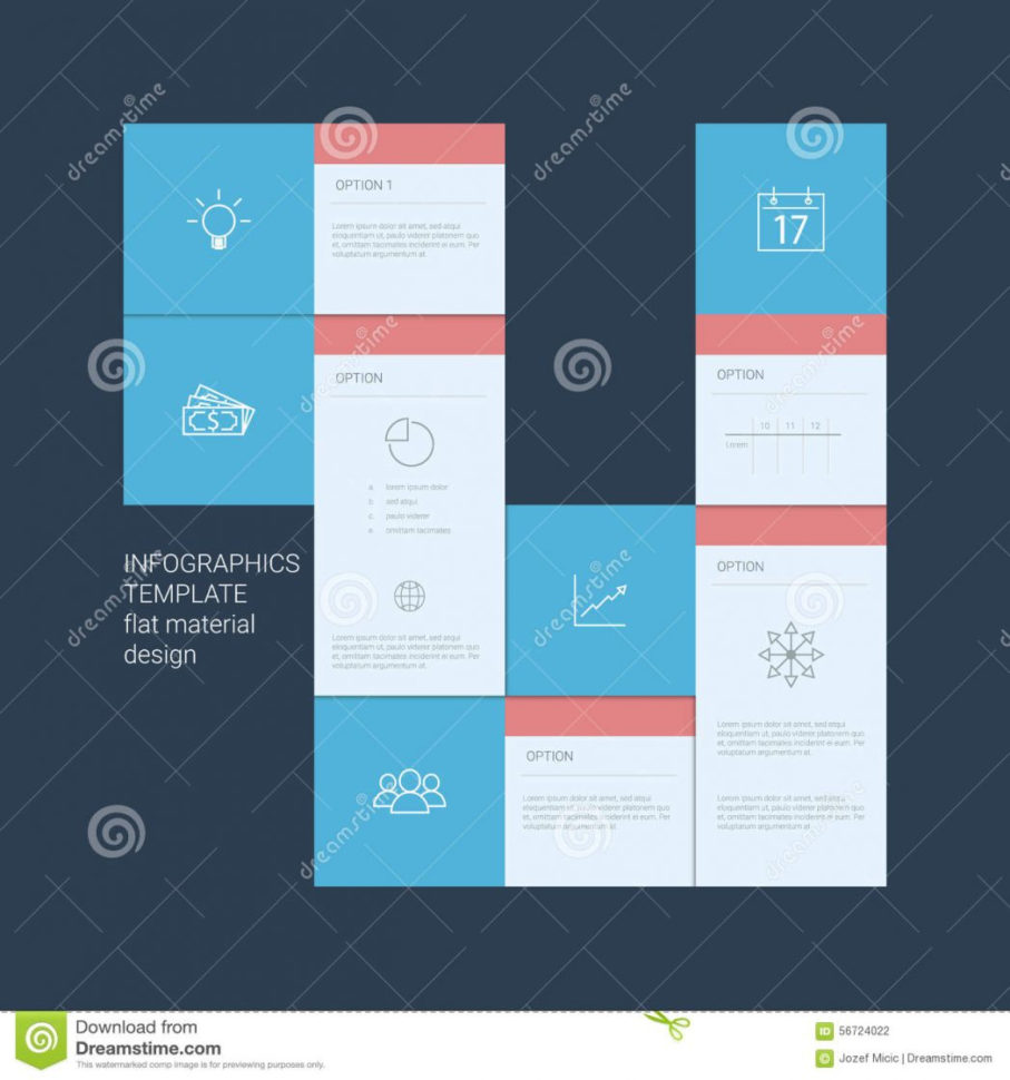 Infographics Template Menu Options Elements Stock Vector Material For Project Management Design Templates