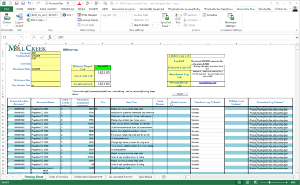 Integrate Sap To Excel | Winshuttle Software Throughout Sample Excel Spreadsheet