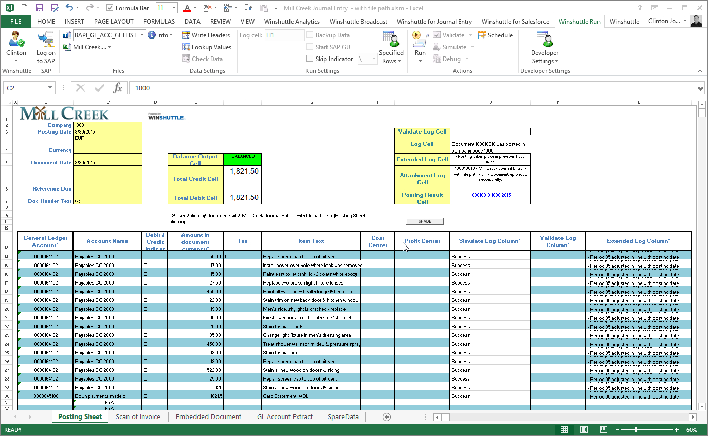 Integrate Sap To Excel | Winshuttle Software to Sample Of Excel Spreadsheet With Data