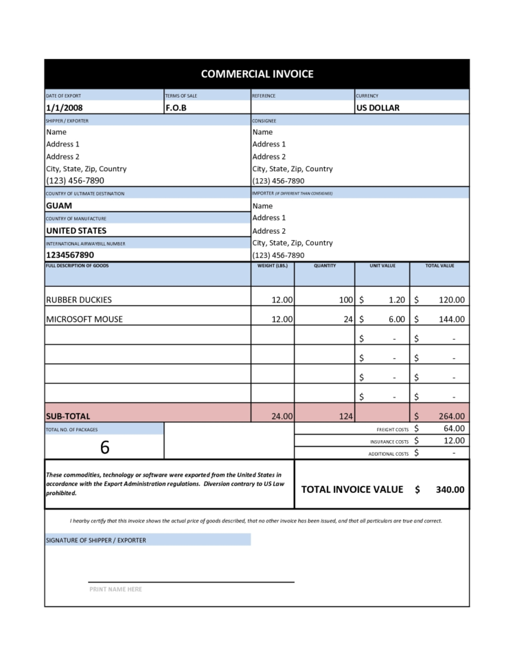 Invoice Spreadsheet Template Microsoft Works | Invoice Template To Microsoft Works Spreadsheet